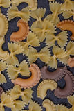 Variété de types de fond italien de pâtes Photos libres de droits