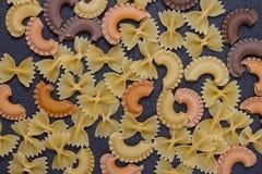 Variété de types de fond italien de pâtes Image libre de droits