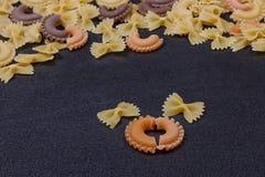 Variété de types de fond italien de pâtes Photo libre de droits