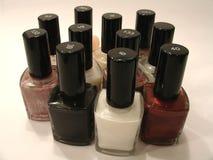 Variété de vernis à ongles Photos libres de droits
