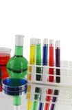 Variété de verrerie de laboratoire image libre de droits