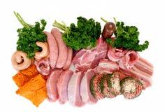 Variété de viande Photographie stock