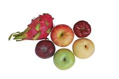 Variété de vue supérieure de fruits photographie stock