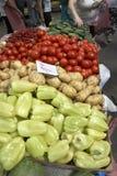 Variété du marché de légumes photographie stock libre de droits