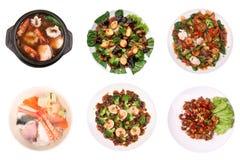 Variété six de nourriture japonaise Photos stock
