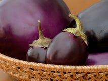 Variétés d'aubergine Photographie stock