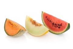 Variétés de melon Photographie stock