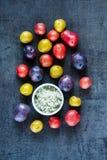 Variétés de pommes de terre fraîches Images stock