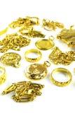 Vari?ërt Gouden Juwelen Royalty-vrije Stock Afbeelding