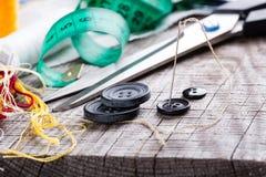 Vari accessori di cucito Immagine Stock Libera da Diritti