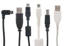 Vari cavi del USB Fotografie Stock Libere da Diritti