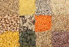 Vari cereali e Fotografia Stock Libera da Diritti
