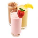 Vari cocktail della proteina Fotografia Stock