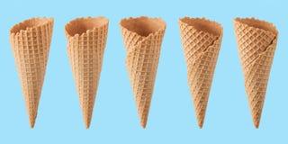 Vari coni gelati Immagine Stock
