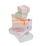 Vari contenitori di regalo Fotografie Stock
