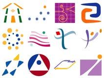 Vari elementi astratti di disegno dell'icona di marchio di vettore Fotografie Stock Libere da Diritti