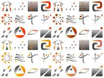 Vari elementi astratti di disegno dell'icona di marchio di vettore Fotografia Stock Libera da Diritti