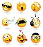 Vari emoticons Immagini Stock Libere da Diritti