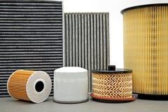 Vari filtri dall'automobile Fotografia Stock