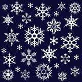Vari fiocchi di neve Immagini Stock