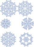 Vari fiocchi di neve Fotografia Stock