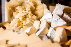 Vari formaggi Fotografia Stock