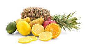 Vari frutti, isolati Fotografia Stock