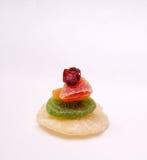 Vari frutti secchi su fondo bianco Fotografia Stock Libera da Diritti