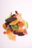 Vari frutti secchi su fondo bianco Fotografie Stock Libere da Diritti
