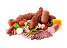 Vari generi di carne Immagine Stock