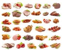 Vari generi di prodotti a base di carne Fotografia Stock