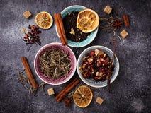 Vari generi di tè asciutto Immagine Stock Libera da Diritti