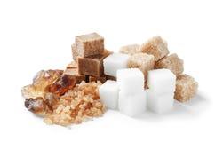 Vari generi di zucchero immagini stock