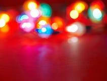 Vari indicatori luminosi di festa Fotografia Stock