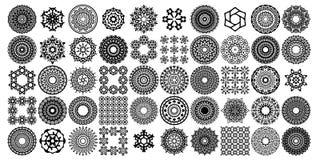 Vari insiemi delle collezioni della mandala Stile di Boho Gli archivi di vettore possono applicarsi per stampare e media digitali illustrazione vettoriale