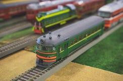 Vari modelli sovietici del treno Fotografia Stock Libera da Diritti