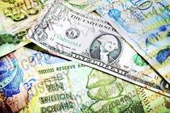 Vari numeri del mercato e dei soldi Immagine Stock Libera da Diritti