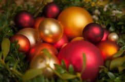 Vari ornamenti di Natale Fotografie Stock Libere da Diritti