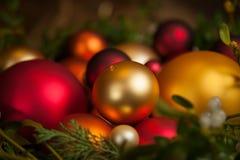 Vari ornamenti di Natale Fotografia Stock Libera da Diritti