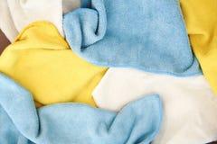 Vari panni colorati del microfiber Immagine Stock