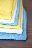 Vari panni colorati del microfiber Fotografia Stock