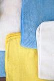 Vari panni colorati del microfiber Immagini Stock Libere da Diritti