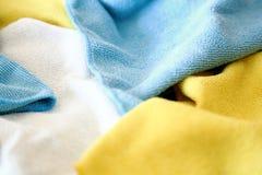 Vari panni colorati del microfiber Fotografie Stock Libere da Diritti