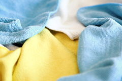 Vari panni colorati del microfiber Fotografie Stock