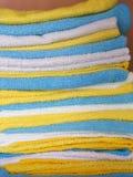 Vari panni colorati del microfiber Immagini Stock