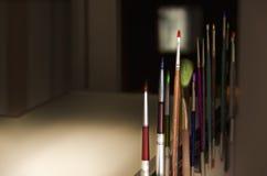 Vari pennelli variopinti Fotografia Stock Libera da Diritti