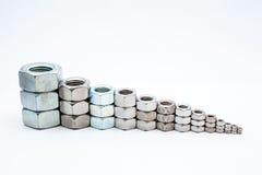 Vari rivestono di ferro i bulloni Immagine Stock Libera da Diritti