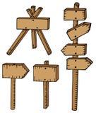 Vari segni di legno Illustrazione di Stock