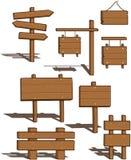 Vari segni di legno Immagini Stock Libere da Diritti