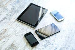 Vari smartphones e pc della compressa Fotografie Stock